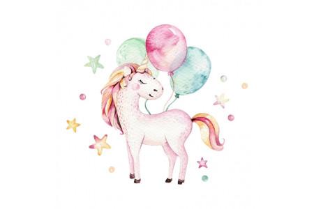 Licorne et ballons