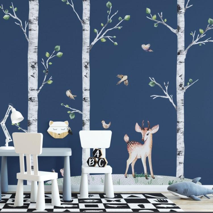 Set arbres, foan et oiseaux