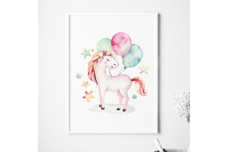 Image Licorne et Ballons