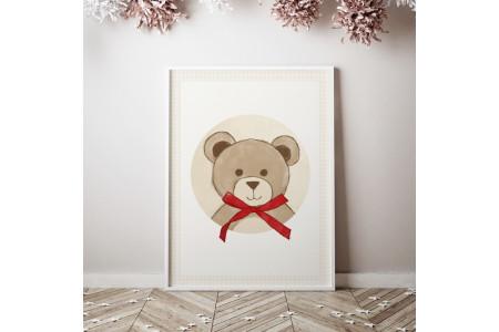 Image Teddy bear avec noeud