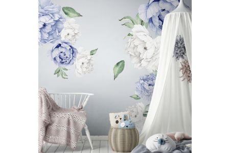 Pivoines Pastel Bleues +