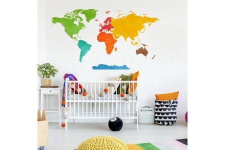 Carte du Monde Colorée