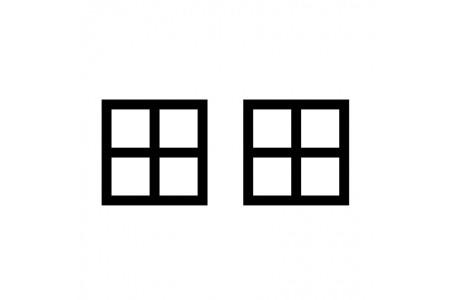 Fenêtres Blanches / Noires / Grises / Menthe / Jaune