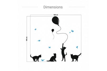 Chats avec ballons